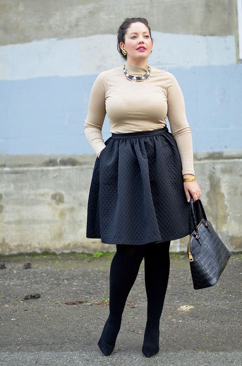 how to be stylish in a plus size skater skirt 10 - how-to-be-stylish-in-a-plus-size-skater-skirt-10