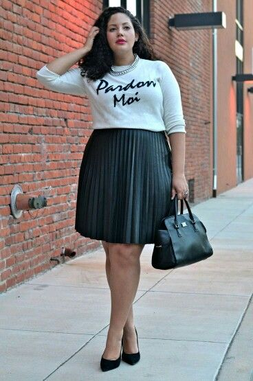 how to be stylish in a plus size skater skirt 7 - how-to-be-stylish-in-a-plus-size-skater-skirt-7