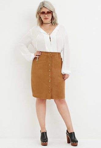 how-to-wear-a-plus-size-skirt-with-buttons-1