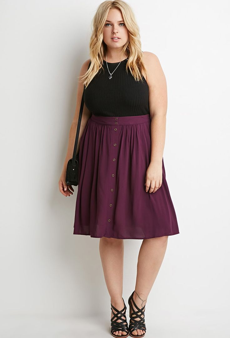how to wear a plus size skirt with buttons - how-to-wear-a-plus-size-skirt-with-buttons