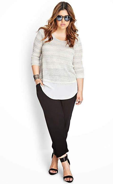 how to wear a plus size striped top in all day outfits 1 - how-to-wear-a-plus-size-striped-top-in-all-day-outfits-1