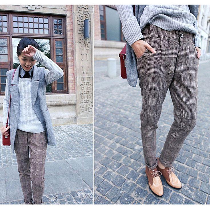 How to wear plus size tweed pants in flattering ways ...