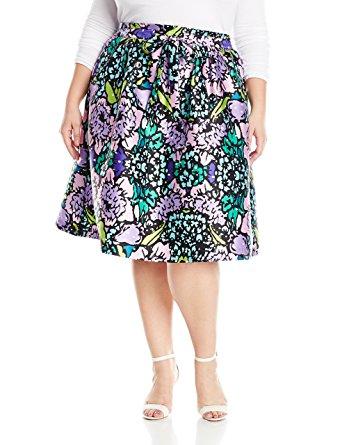 plus size floral skirt 1 - plus size floral skirt 1