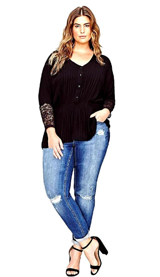 5 plus size outfits with high waisted jeans for spring