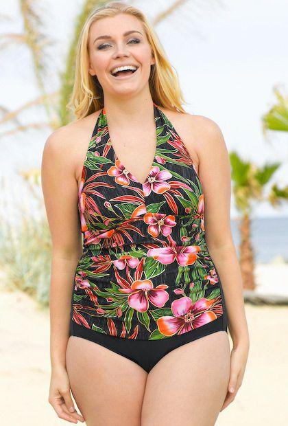 dab937609f8 5 flattering plus size one piece swimsuit options - curvyoutfits.com