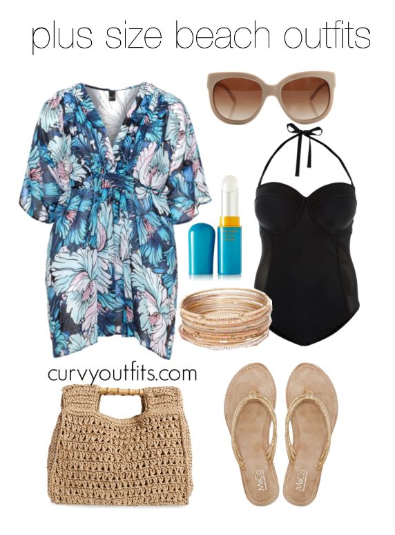 5 plus size beach outfits to wear this summer 1 - 5 plus size beach outfits to wear this summer