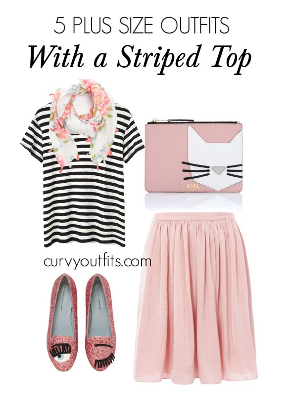 5 plus size outfits with a striped top 3 - 5 plus size outfits with a striped top 3