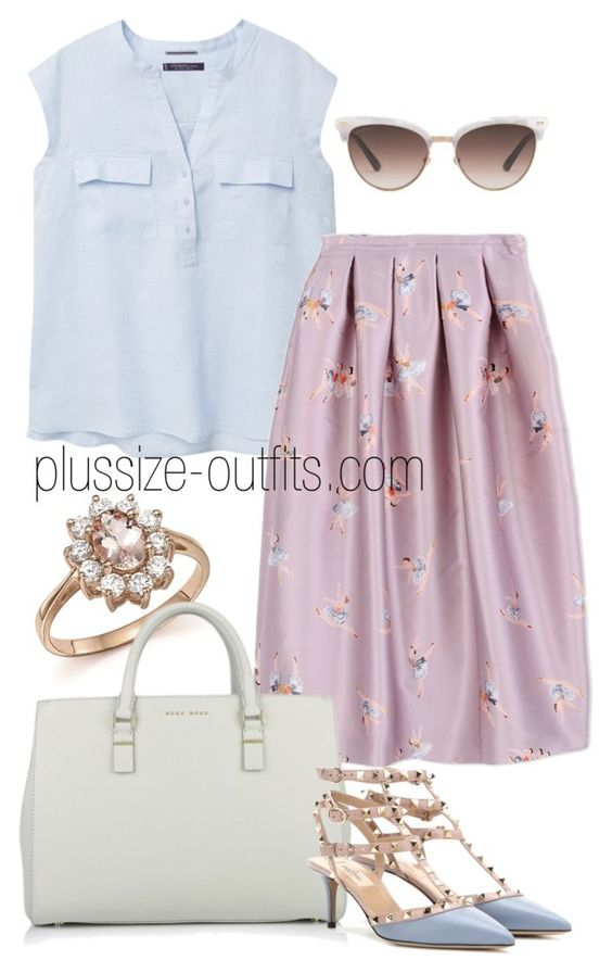 5 plus size pastel skirt outfits for romantic looks - 5-plus-size-pastel-skirt-outfits-for-romantic-looks