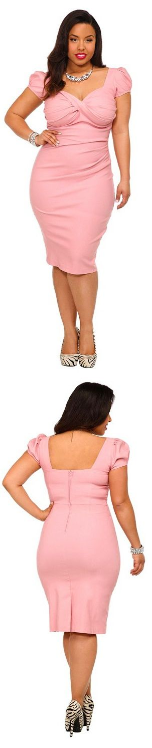 5 plus size pink dresses for spring style 3 - 5-plus-size-pink-dresses-for-spring-style-3