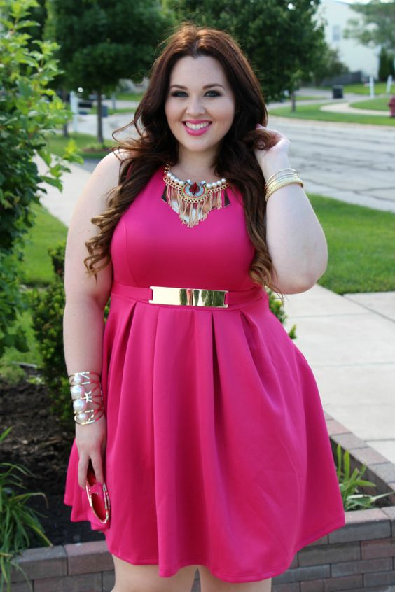 5 plus size pink dresses for spring style - 5-plus-size-pink-dresses-for-spring-style