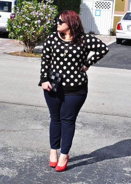 5 plus size polka dot tops for all day styling 1 - 5-plus-size-polka-dot-tops-for-all-day-styling-1