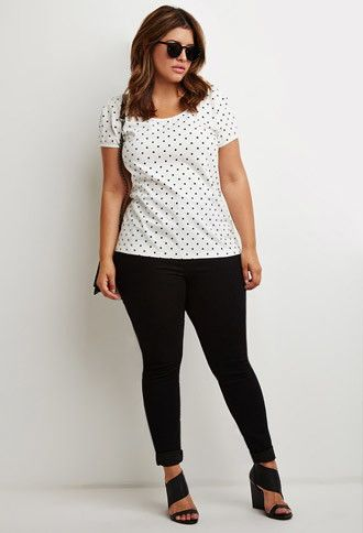 5 plus size polka dot tops for all day styling 2 - 5-plus-size-polka-dot-tops-for-all-day-styling-2