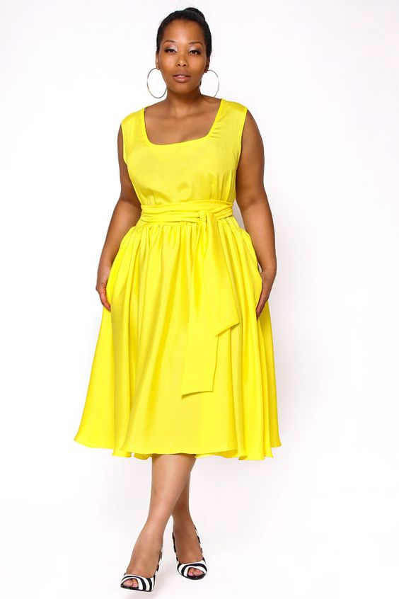 5 Plus Size Yellow Dresses For Fun Spring Style Page 2 Of 5
