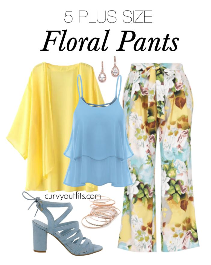 5 stylish ways to wear plus size floral pants in spring - 5 stylish ways to wear plus size floral pants in spring