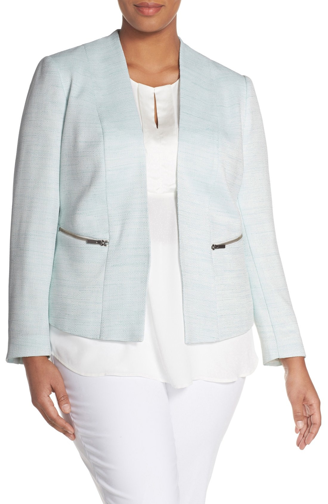 5 tweed plus size blazers for work