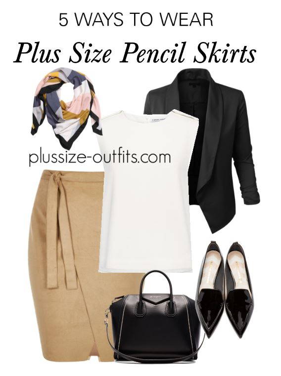 5 ways to wear a plus size pencil skirt this summer 5 - 5 ways to wear a plus size pencil skirt this summer (5)