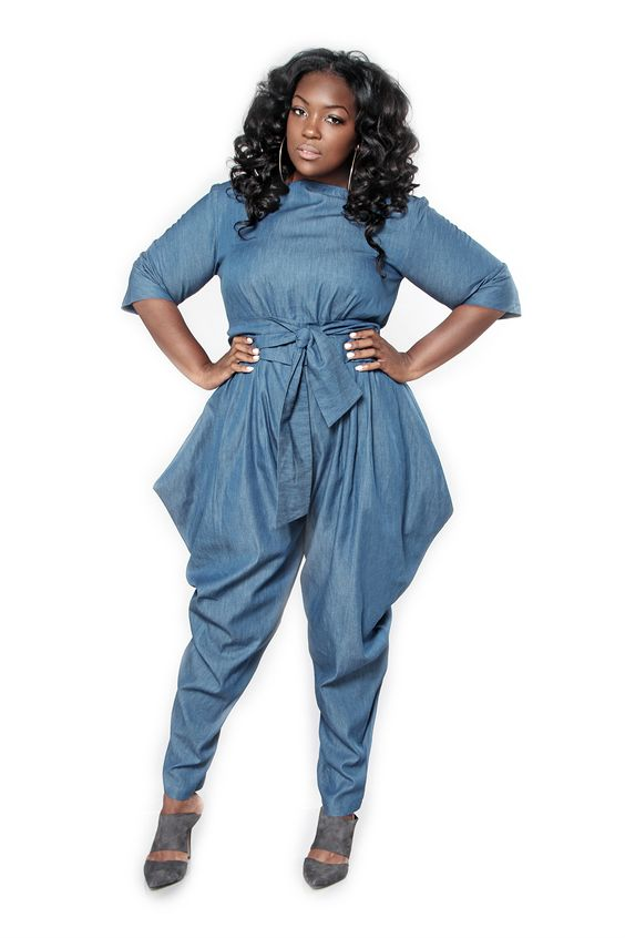 How To Wear A Plus Size Denim Jumpsuit With Heels Page 4 Of 5