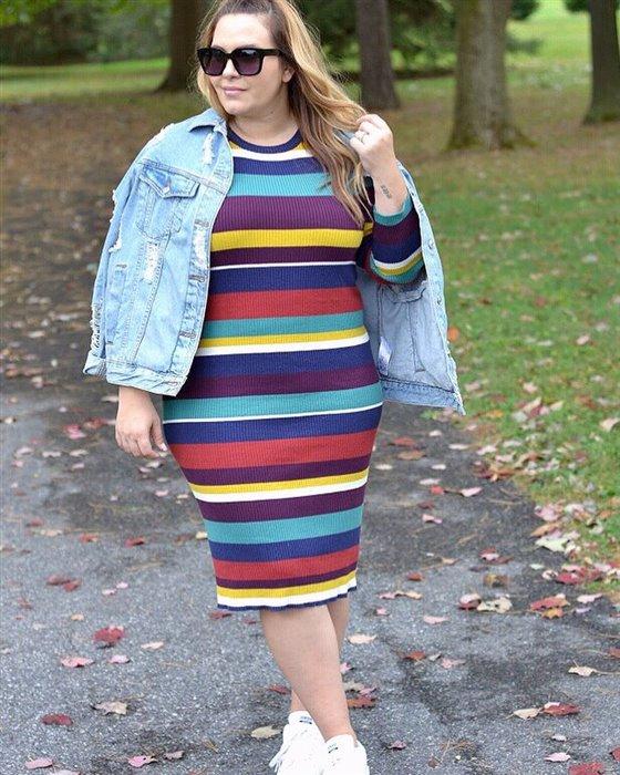 plus size striped dress 3 - plus size striped dress 3
