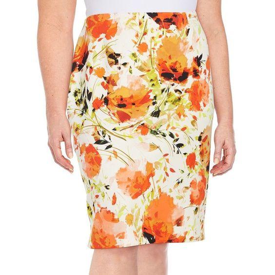 2942e5db65b 5-chic-ways-to-wear-a-plus-size-floral-pencil-skirt-2 - curvyoutfits.com