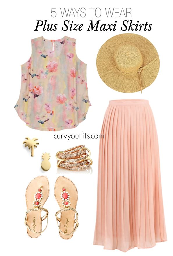f53873de2c06 5 ways to wear a plus size maxi skirt during summer - curvyoutfits.com