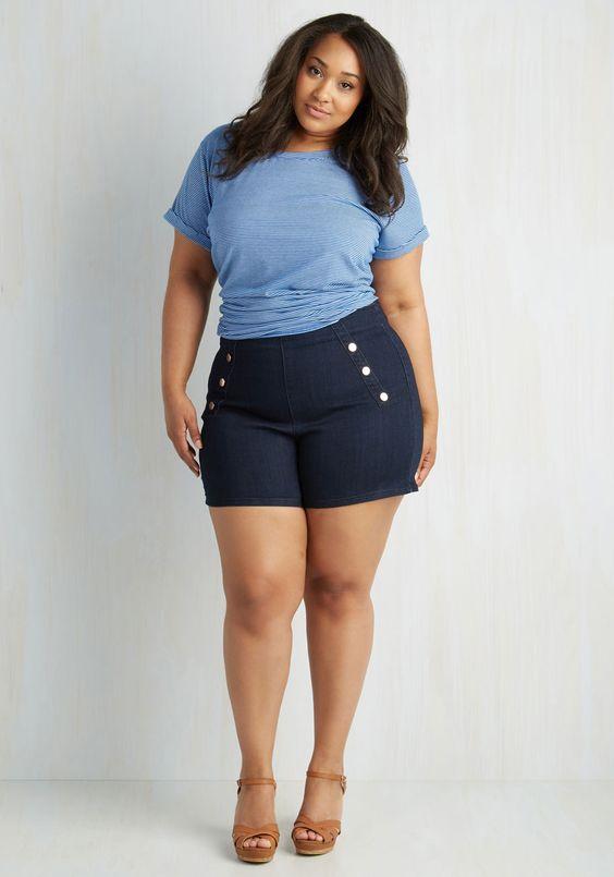 5 ways to wear plus size denim shorts - 5-ways-to-wear-plus-size-denim-shorts