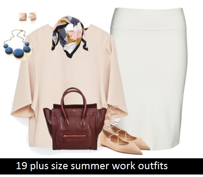 4a6b6098dd7c 19 plus size summer work outfits - curvyoutfits.com