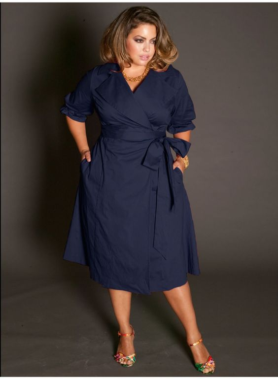 5 beautiful navy blue dresses for curvy women - Page 2 of 5 ...