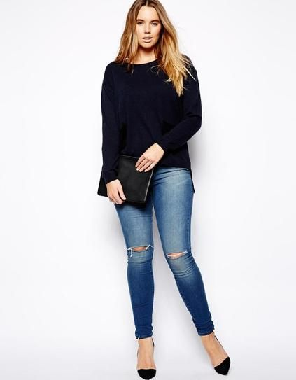 how-to-wear-plain-jeans-with-high-heels