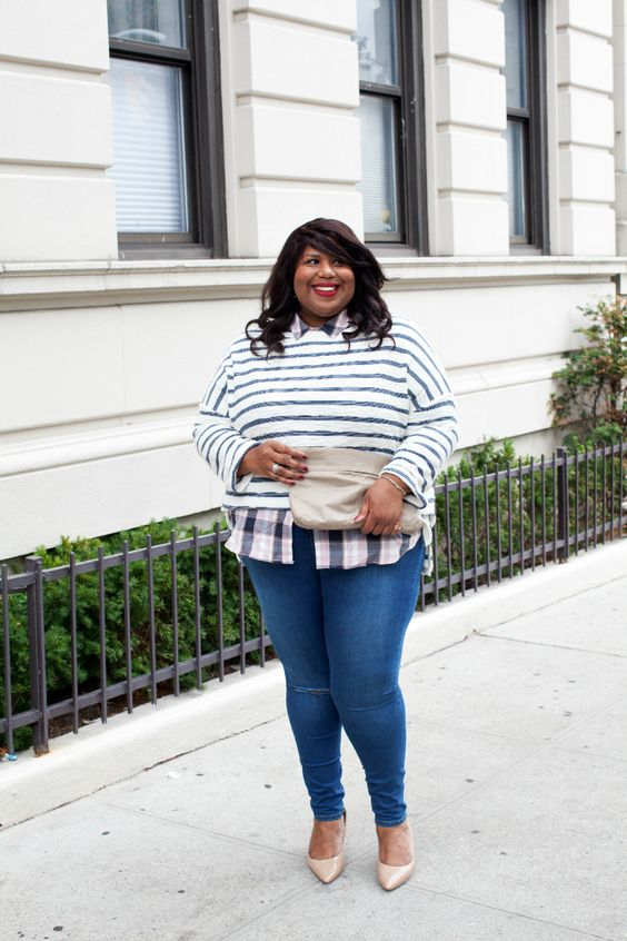 how to wear a plus size mariniere at work - how-to-wear-a-plus-size-mariniere-at-work