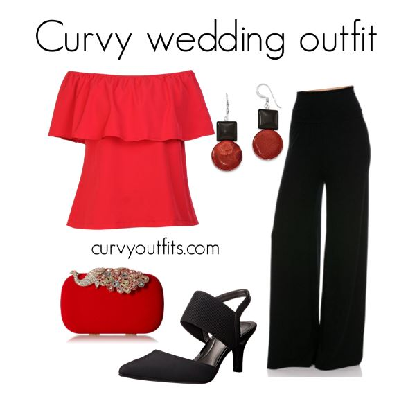5 curvy outifts for wedding guests with pants 5 - 5 curvy outifts for wedding guests with pants