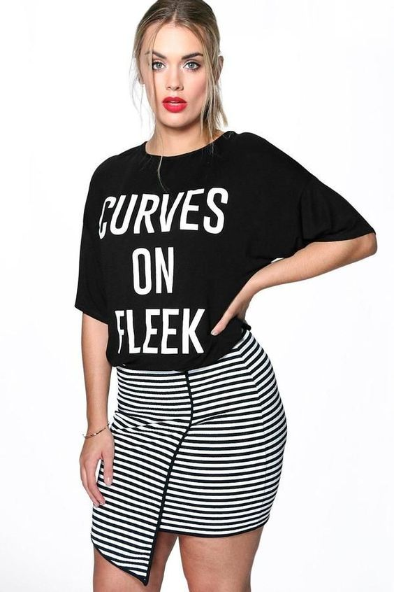 super stylish outfits with plus size logo tshirts - super-stylish-outfits-with-plus-size-logo-tshirts