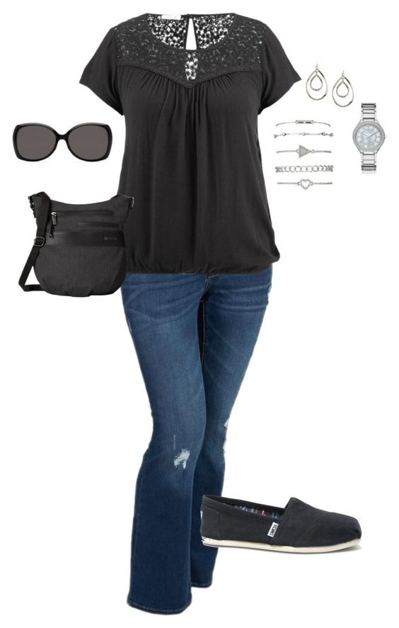 5 stylish plus size outfits with jeans and t shirts 1 - 5-stylish-plus-size-outfits-with-jeans-and-t-shirts-1