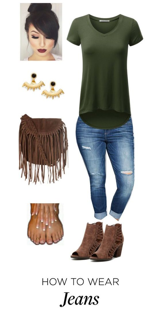 5 stylish plus size outfits with jeans and t shirts e1479908509810 - 5-stylish-plus-size-outfits-with-jeans-and-t-shirts