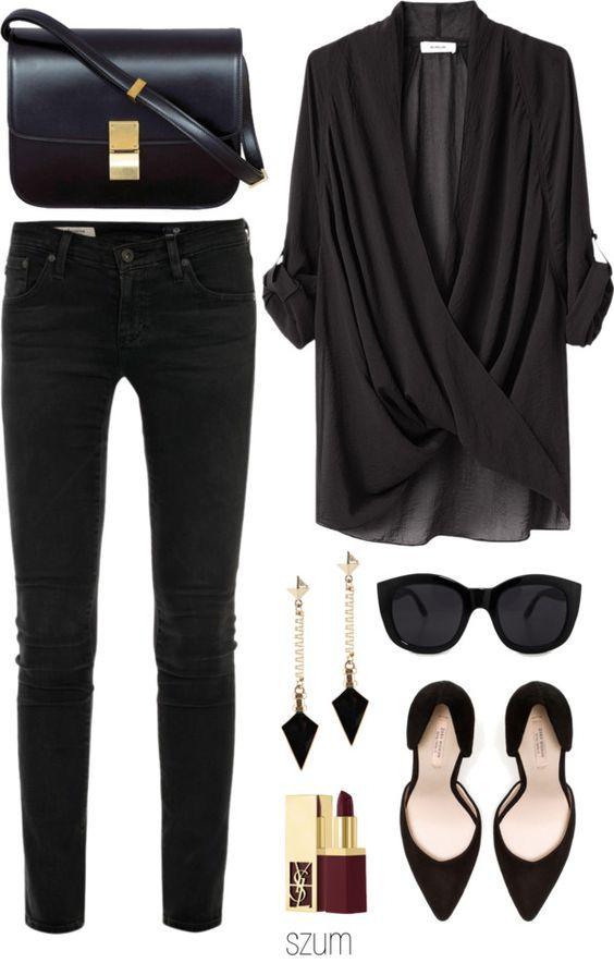 5 ways to wear a chic black shirt in flattering ways - 5-ways-to-wear-a-chic-black-shirt-in-flattering-ways