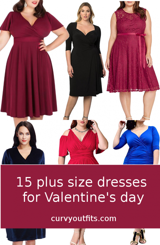 15 beautiful plus size dresses to wear on Valentine\'s day ...