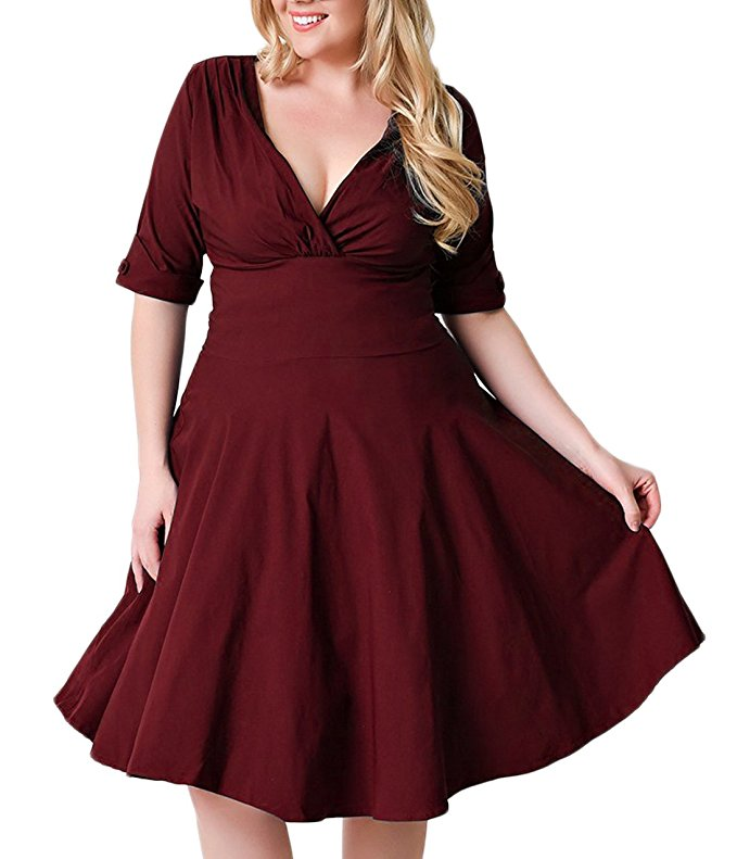15 beautiful plus size dresses to wear on valentines day 9 - 15-beautiful-plus-size-dresses-to-wear-on-valentines-day-9