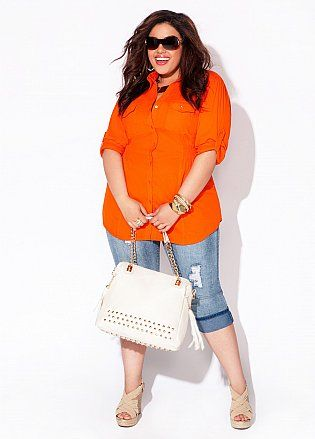 5 ways to combine plus size cropped jeans in spring 3 - 5-ways-to-combine-plus-size-cropped-jeans-in-spring-3