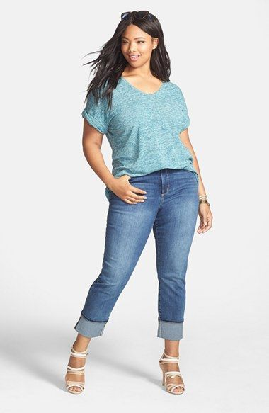 5 ways to combine plus size cropped jeans in spring 4 - 5-ways-to-combine-plus-size-cropped-jeans-in-spring-4