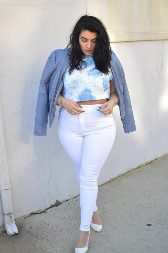 5 ways to combine plus size cropped jeans in spring - 5 ways to combine plus size cropped jeans in spring