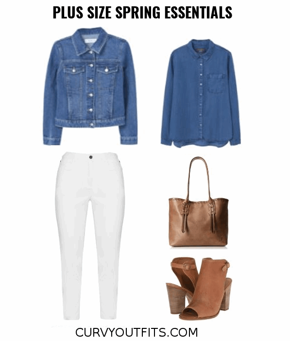 Plus size spring essentials wardrobe outfit 29 - Plus size spring capsule wardrobe outfits
