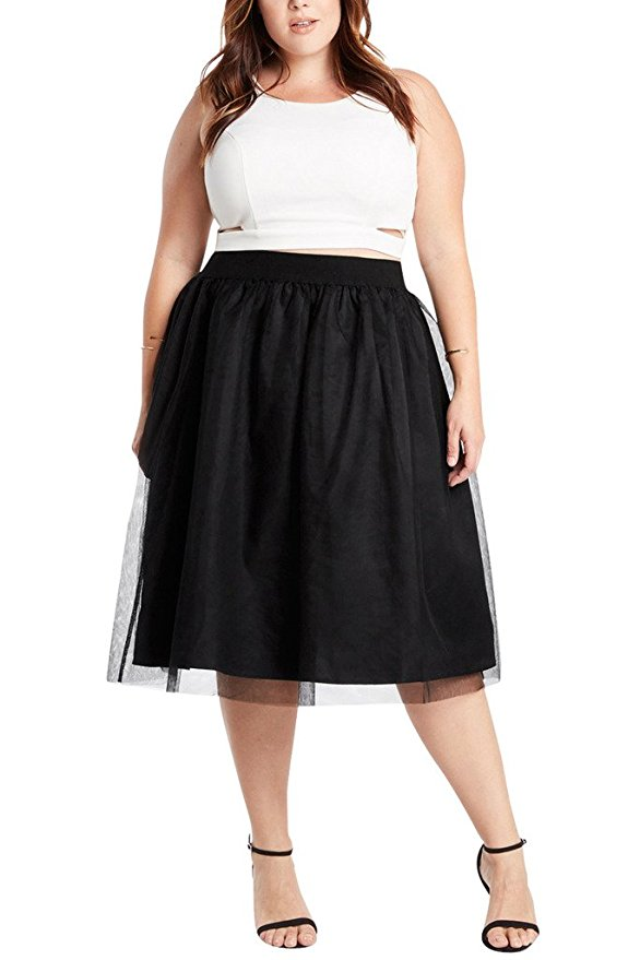 163a35af4663a 5 fashionable spring outfits with a plus size tulle skirt ...