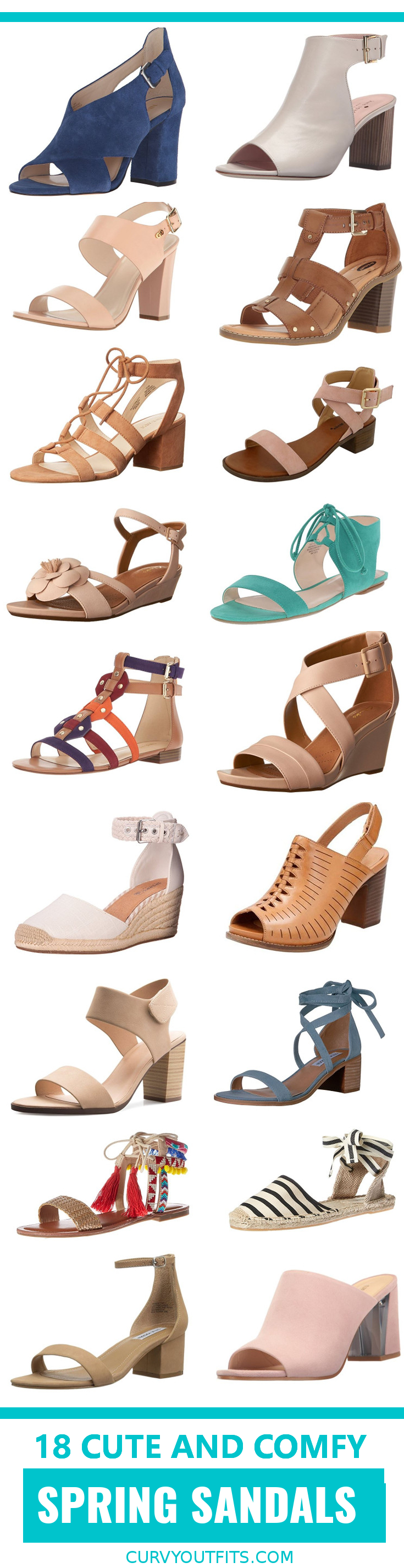 18 cute spring sandals 1 - 18 spring sandals that are both cute and comfortable