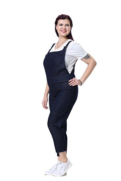 5 fun ways to wear a plus size denim jumpsuit in spring 4 - 5-fun-ways-to-wear-a-plus-size-denim-jumpsuit-in-spring-4