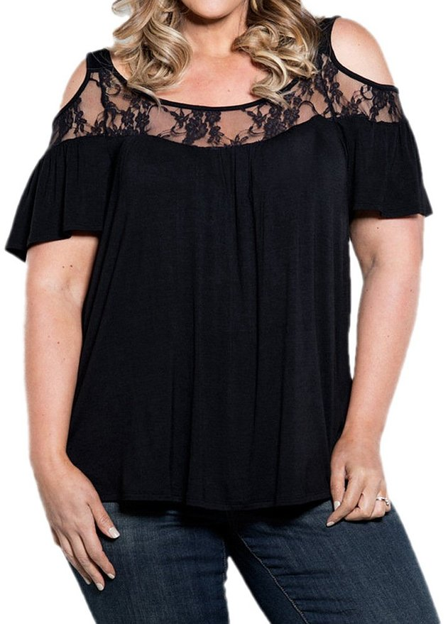 7 stylish ideas on how to wear plus size cold shoulder tops 1 - 7-stylish-ideas-on-how-to-wear-plus-size-cold-shoulder-tops-1