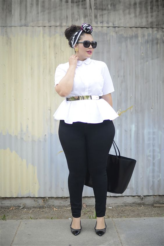 15 plus size outfits with peplum tops you can wear too 1 - 15-plus-size-outfits-with-peplum-tops-you-can-wear-too-1