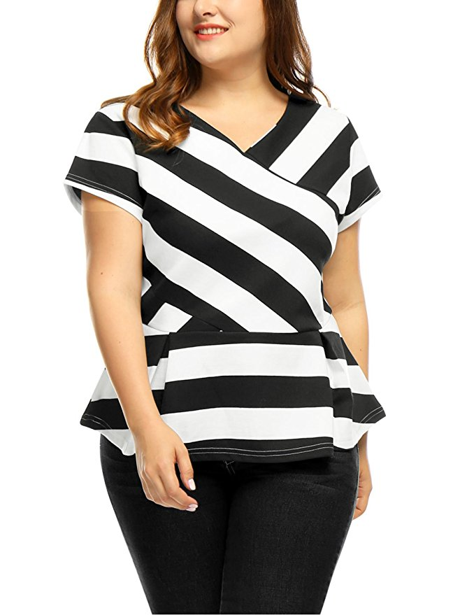 15 plus size outfits with peplum tops you can wear too 2 - 15-plus-size-outfits-with-peplum-tops-you-can-wear-too-2