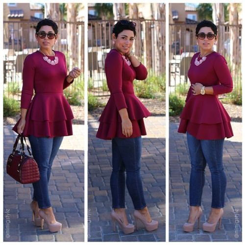 15 plus size outfits with peplum tops you can wear too 7 - 15-plus-size-outfits-with-peplum-tops-you-can-wear-too-7