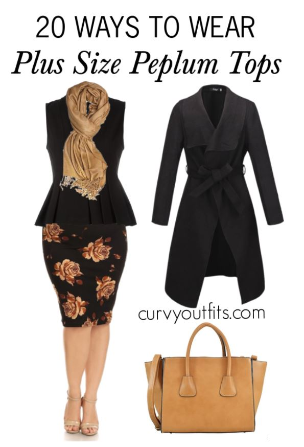 20 WAYS TO WEAR PLUS SIZE PEPLUM TOPS 4 - 20 WAYS TO WEAR PLUS SIZE PEPLUM TOPS 4