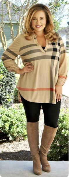 35 plus size fall outfits for moms that you can copy ...