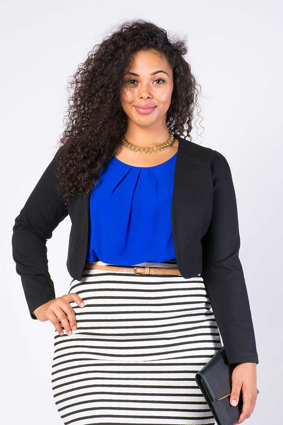 5 stylish cropped jackets for curvy women 2 - 5-stylish-cropped-jackets-for-curvy-women-2